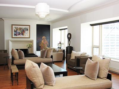 Charmant Chicago Interior Designer; Living Room Design, Michigan Avenue Condo,  Custom Furniture, Space